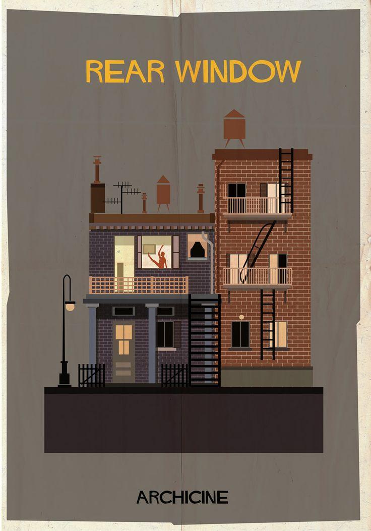 Rear Window, illustrated by federico babina