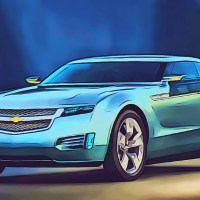 Photo-illustration of Chevy Volt concept