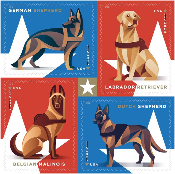 Working Military dogs stamps