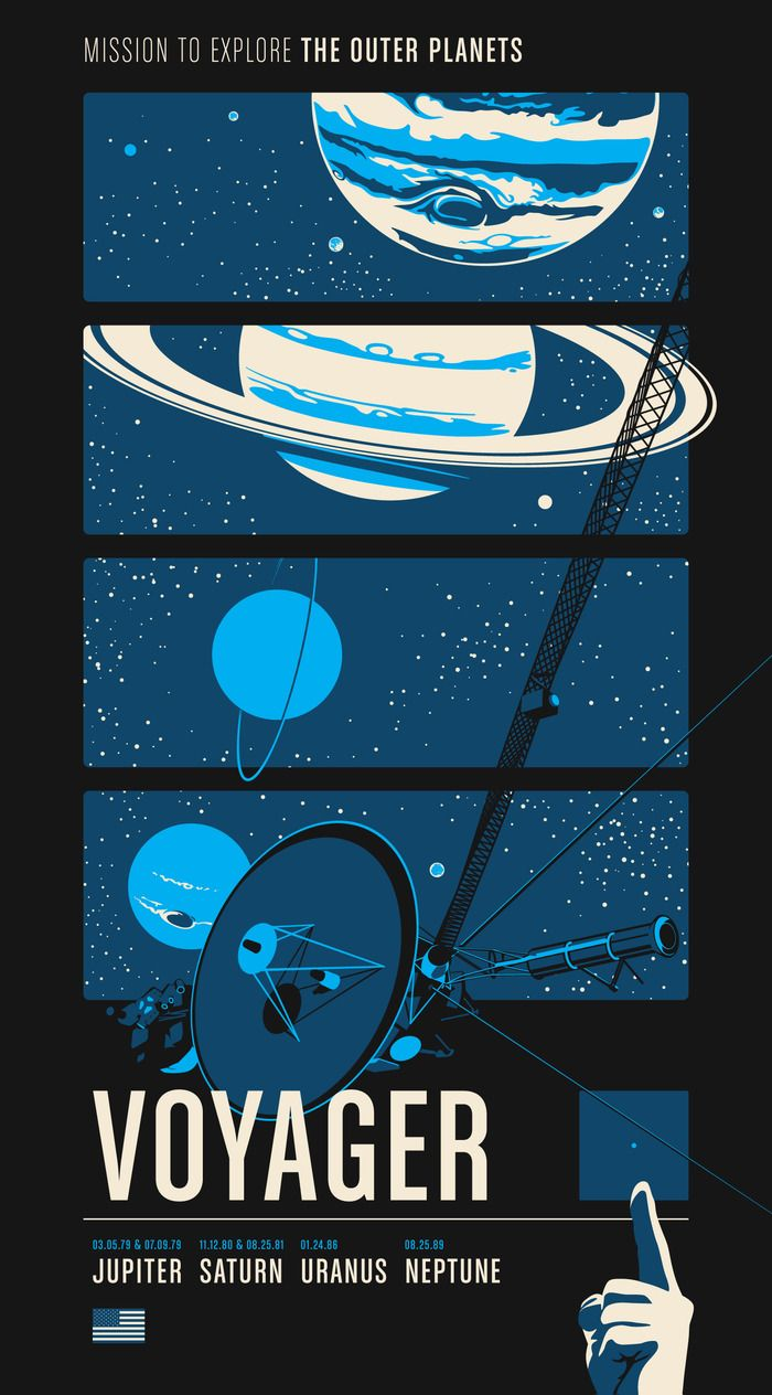 Voyager - Robotic Space Missions Posters
