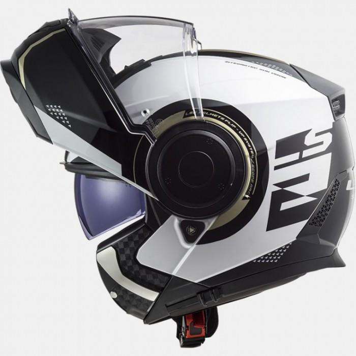 LS2 FF902 SCOPE ARCH modular motorcycle scooter helmet gloss white titanium