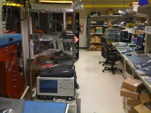 Lonely logic analyzer in EVA lab