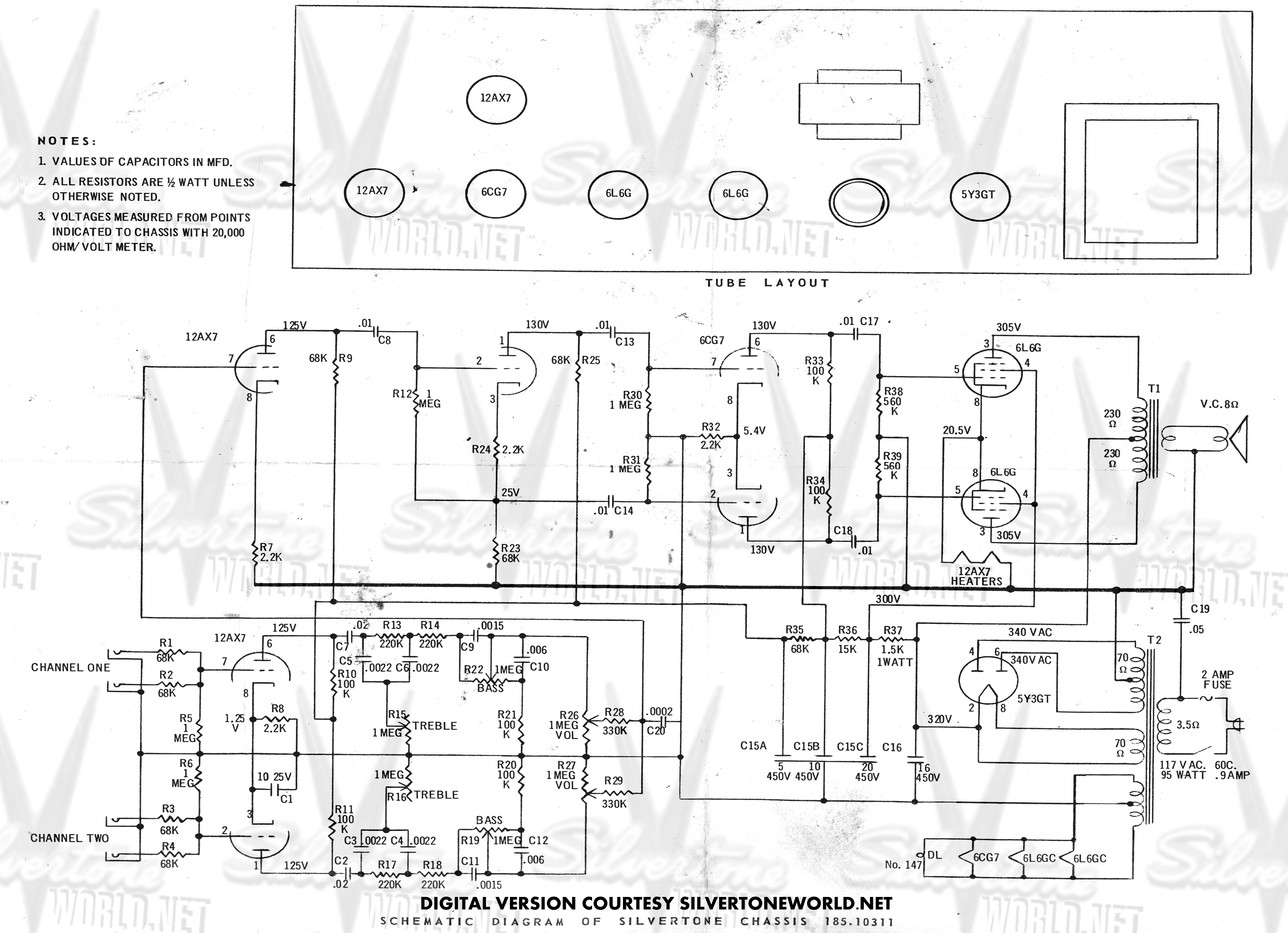 Bas Guitar Wiring Schematic Diagram