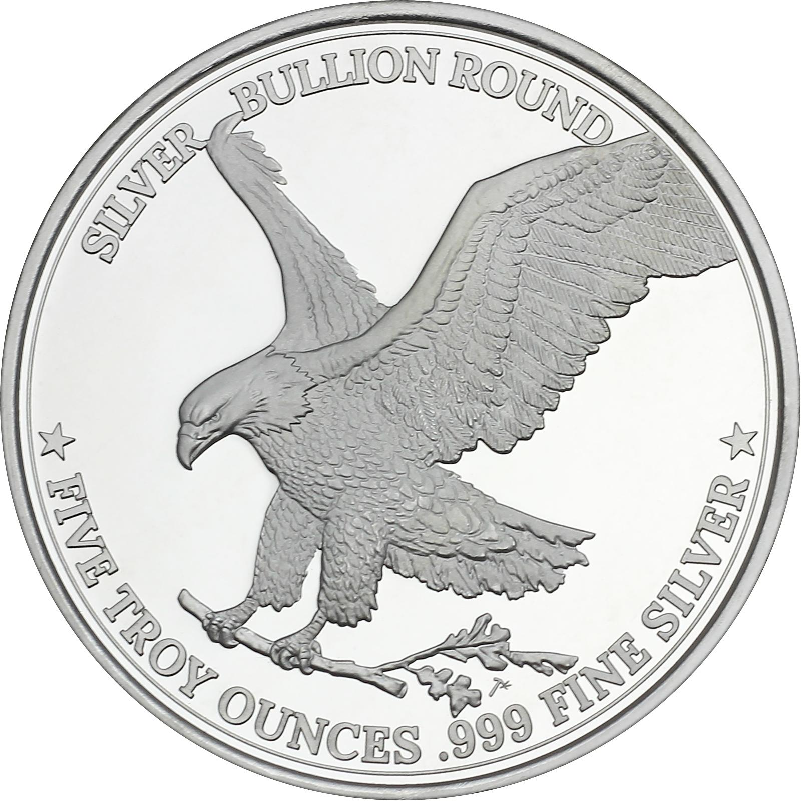 Silvertowne Silver American Eagle 5oz 999 Silver