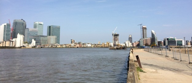 Delta Wharf on the Greenwich Peninsula: Planners should be looking at making it possible to walk and cycle to the Isle of Dogs