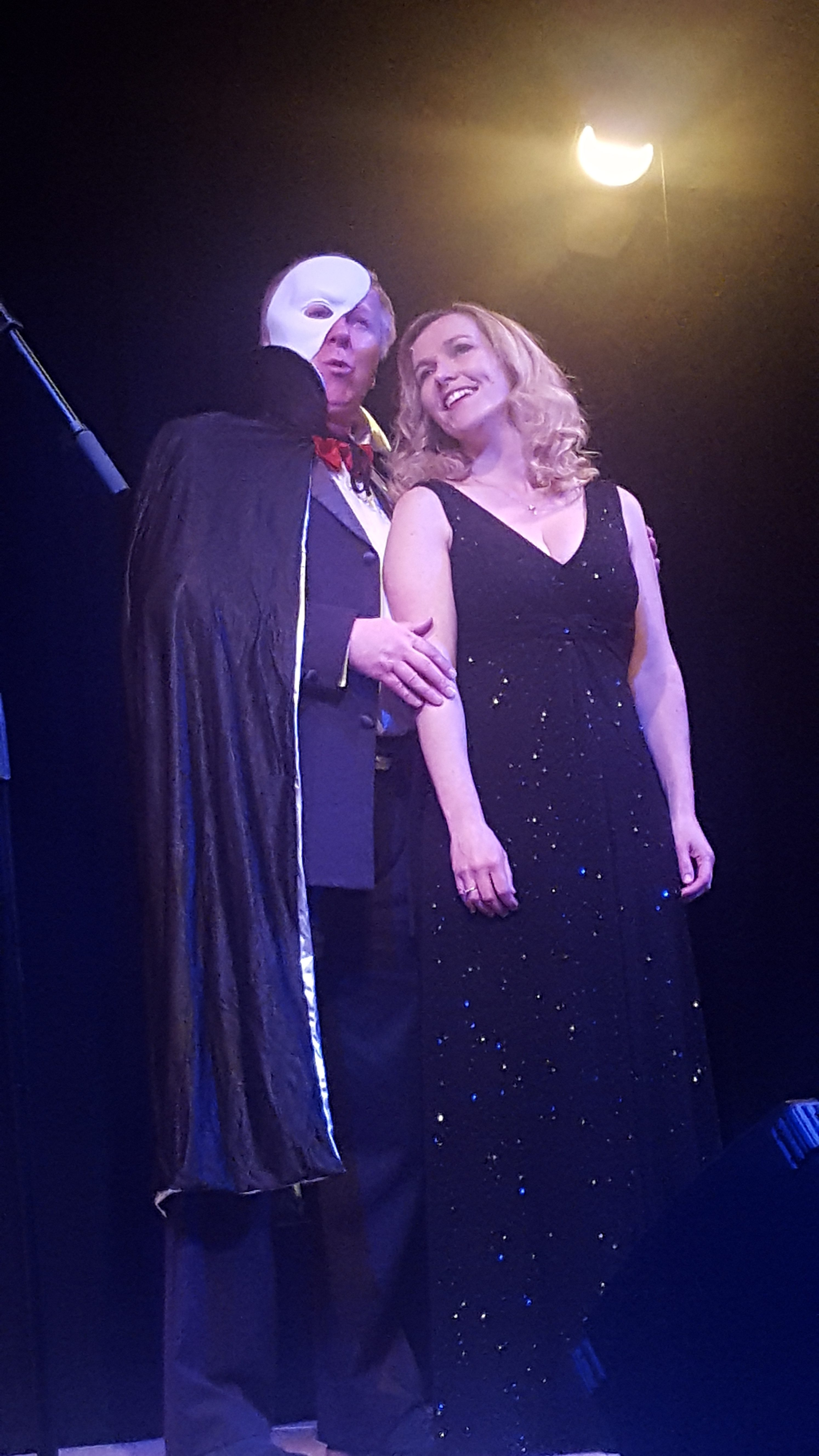 Richard Stark, Jill Neenan singing from Phantom of the Opera