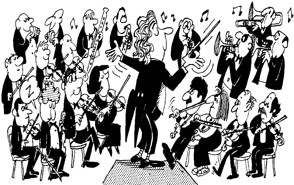 cartoon image orchestra