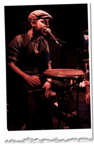 Picture of Tom Chapman on percussion