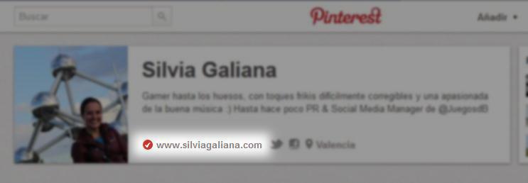 Editar el perfil de Pinterest