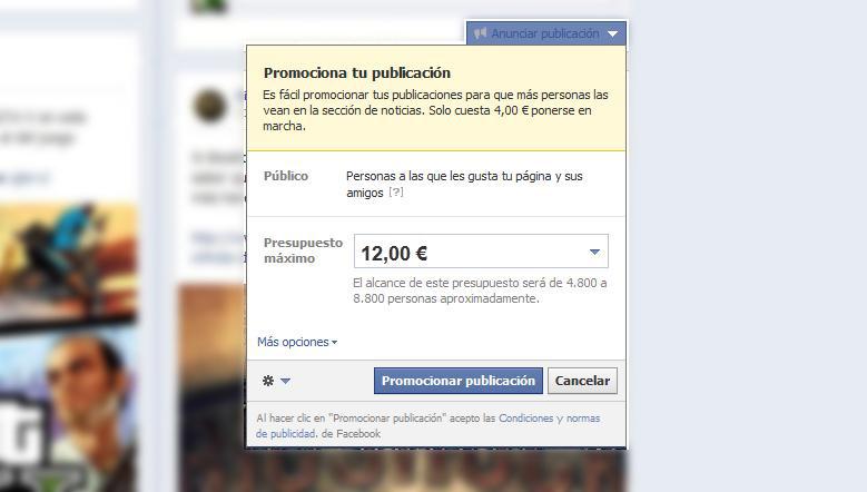 Invertir en promociones en Facebook es un buen método para conseguir nuevos fans