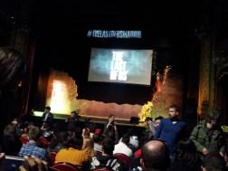 Acomodándonos en el interior del teatro