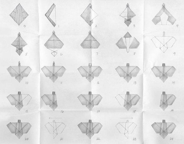 Instrucciones para realizar una paloma de origami