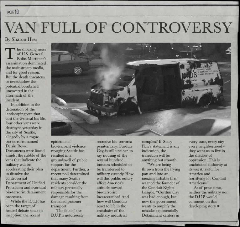 Noticia publicada tras poner fin a la vigilancia estatal y acabar con la flota de furgonetas