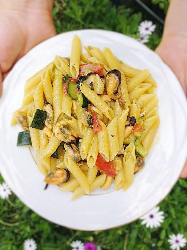 Pennette cozze zucchine