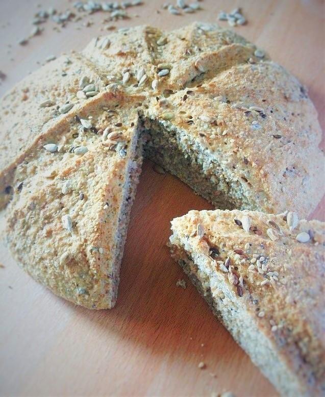 pane integrale con i semini