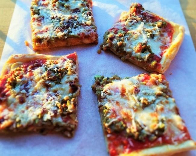 pizza verdure e caprino