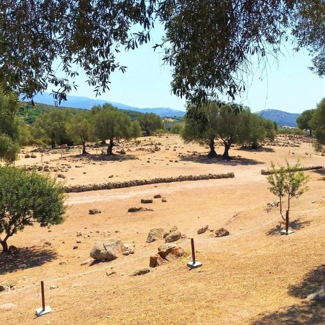 Vista sul sito di Pani Loriga