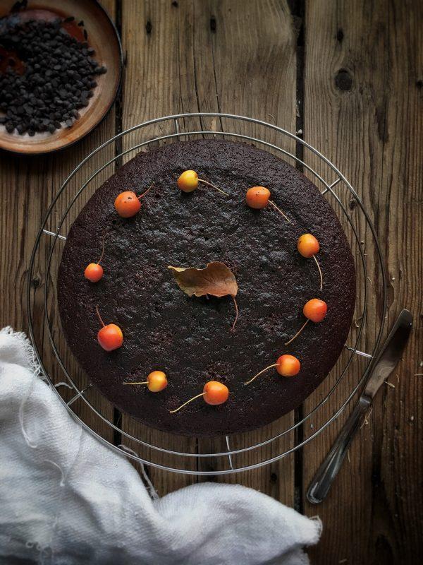 Torta al cioccoloato senza uova, burro e latte!