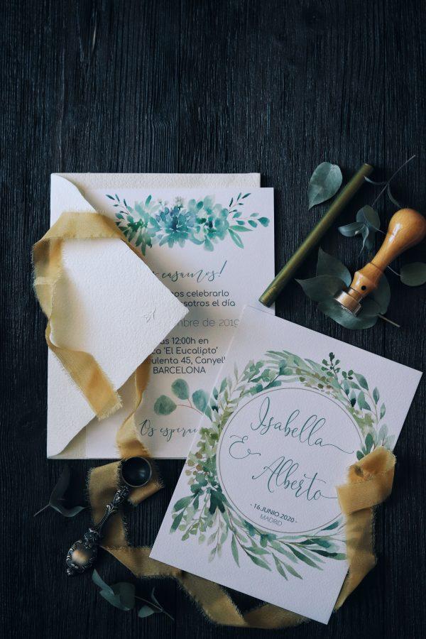 Blue Boho e i suoi inviti di matrimonio ispirati dalla natura