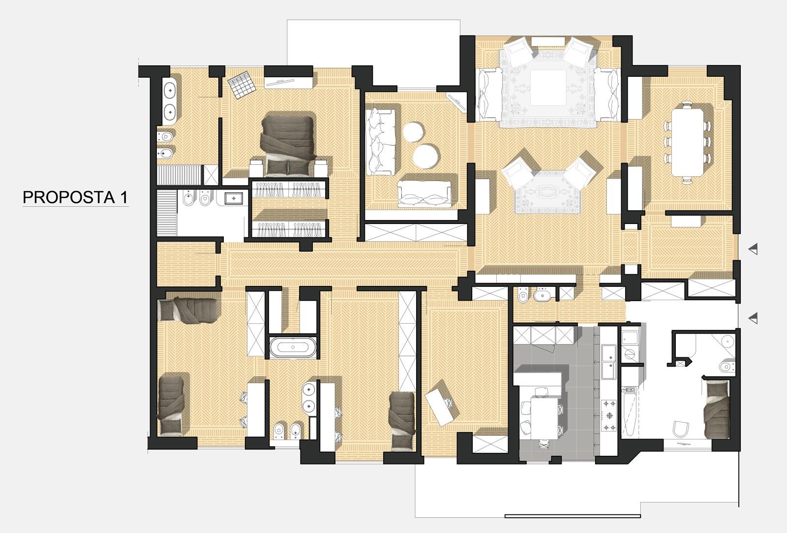 La divisione tra la zona notte e lo spazio per lo studio; Appartamento Di Pregio In Milano Centro Silvia Lagori Architetto Milano Studio Architettura E Design