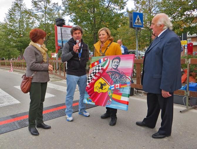 Ferrari Marathon: Silvia Tassoni donates a painting