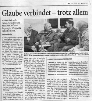 Report from an interfaith meeting