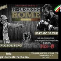 Il SIM Carabinieri con Alessio Sakara & Instructor Zero:due giorni di training intensivo per la prima volta a Roma.