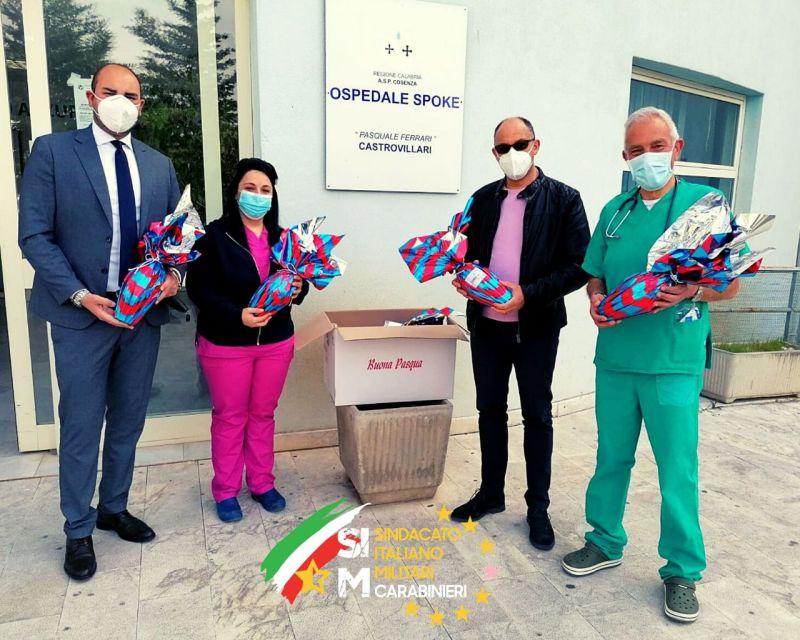 Onofrio Massarotti, segretario regionale aggiunto e Giuseppe Fasano, segretario regionale presso l'ospedale di Castrovillari