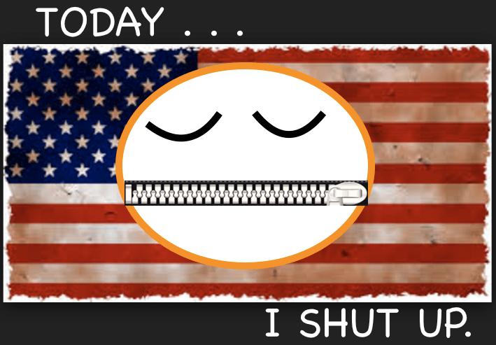 Take the pledge: Today, I shut up.