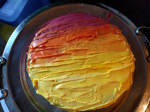 sunset cake