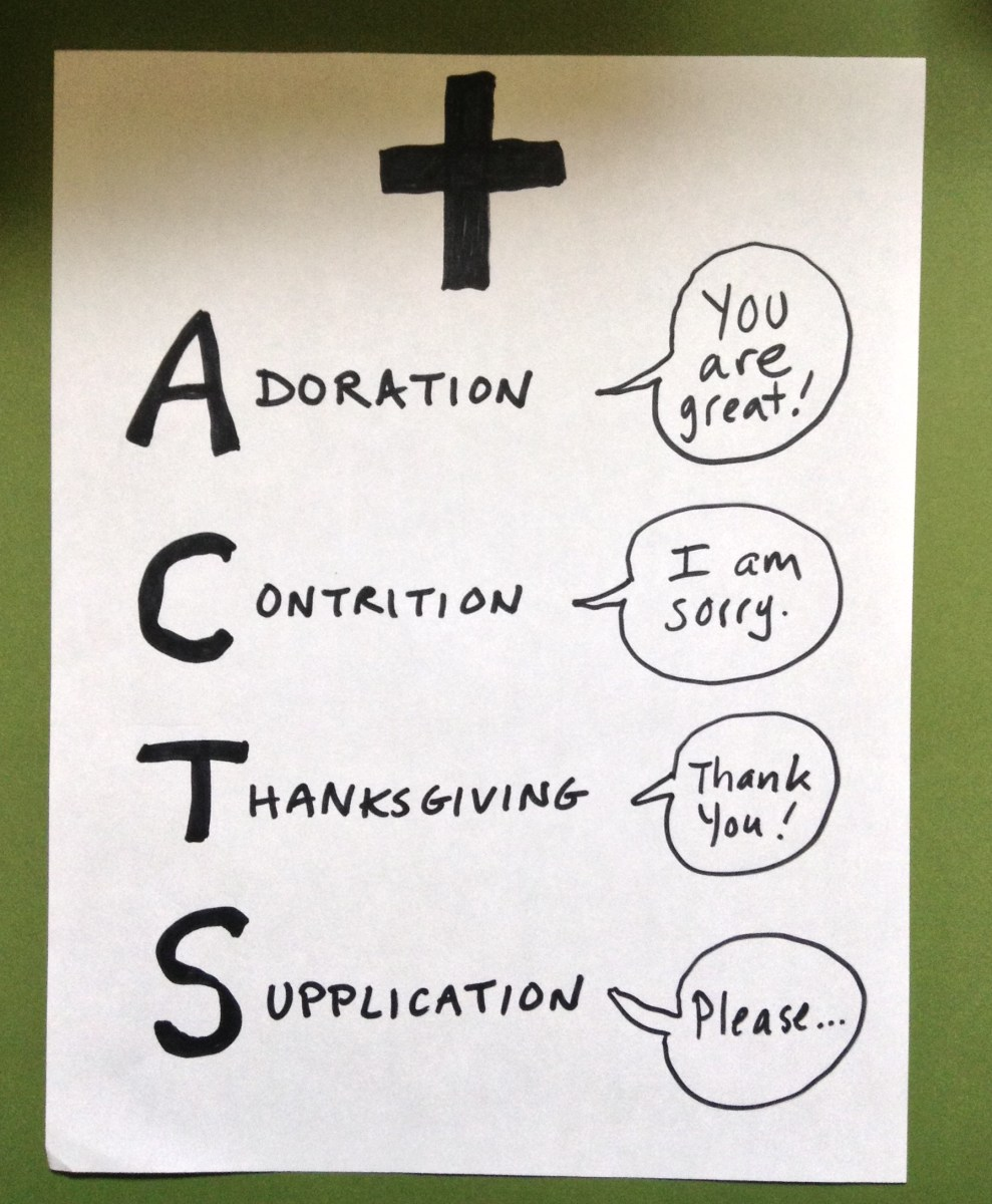 Prayer reminder! ACTS covers your bases