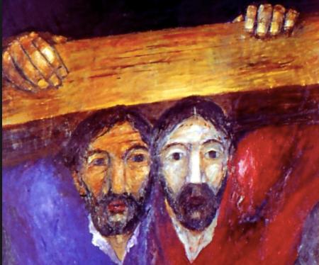 How do we help each other bear the cross?