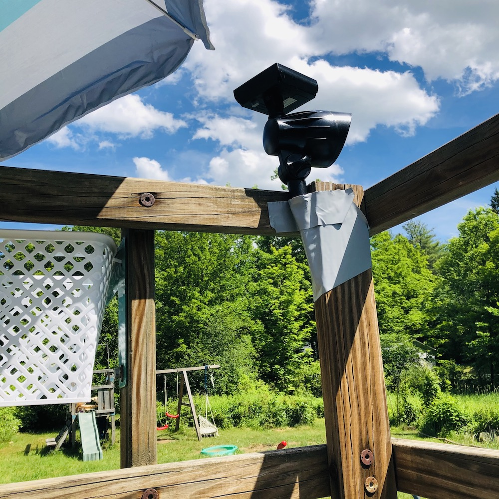 In which I convert a used swing set to a not-quite-deck for our pool