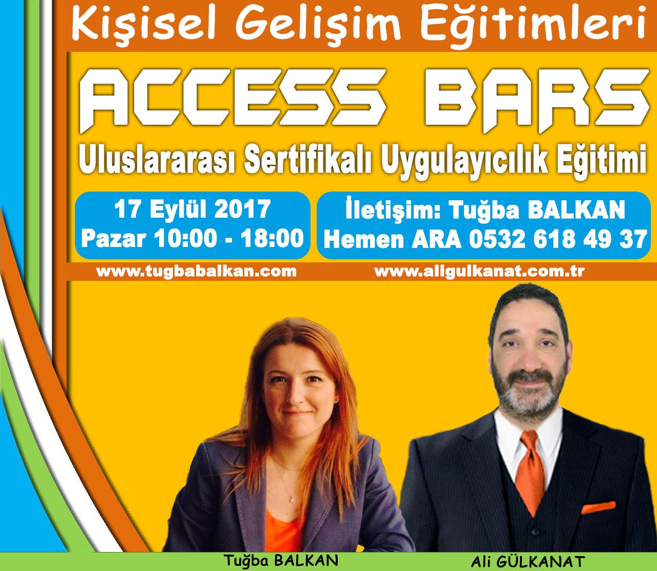 ACCESS BARS Uygulayıcılık Eğitimi – 17 Eylül 2017 – İSTANBUL