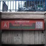 Parada de metro de Cinecitta frente a los estudios