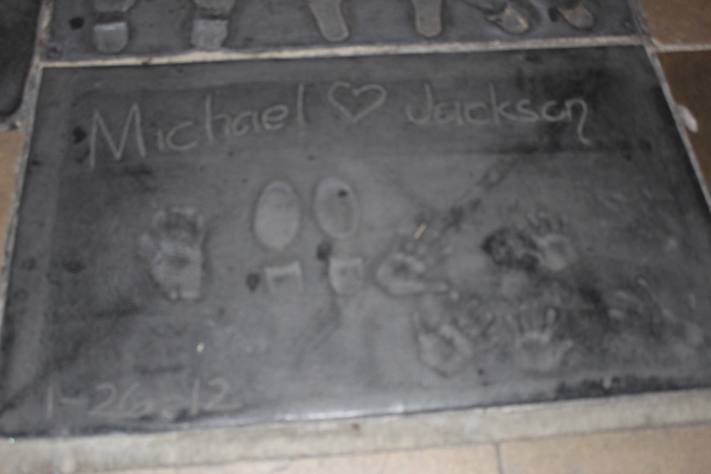 Huellas Teatro Chino Los Angeles - Michael Jackson