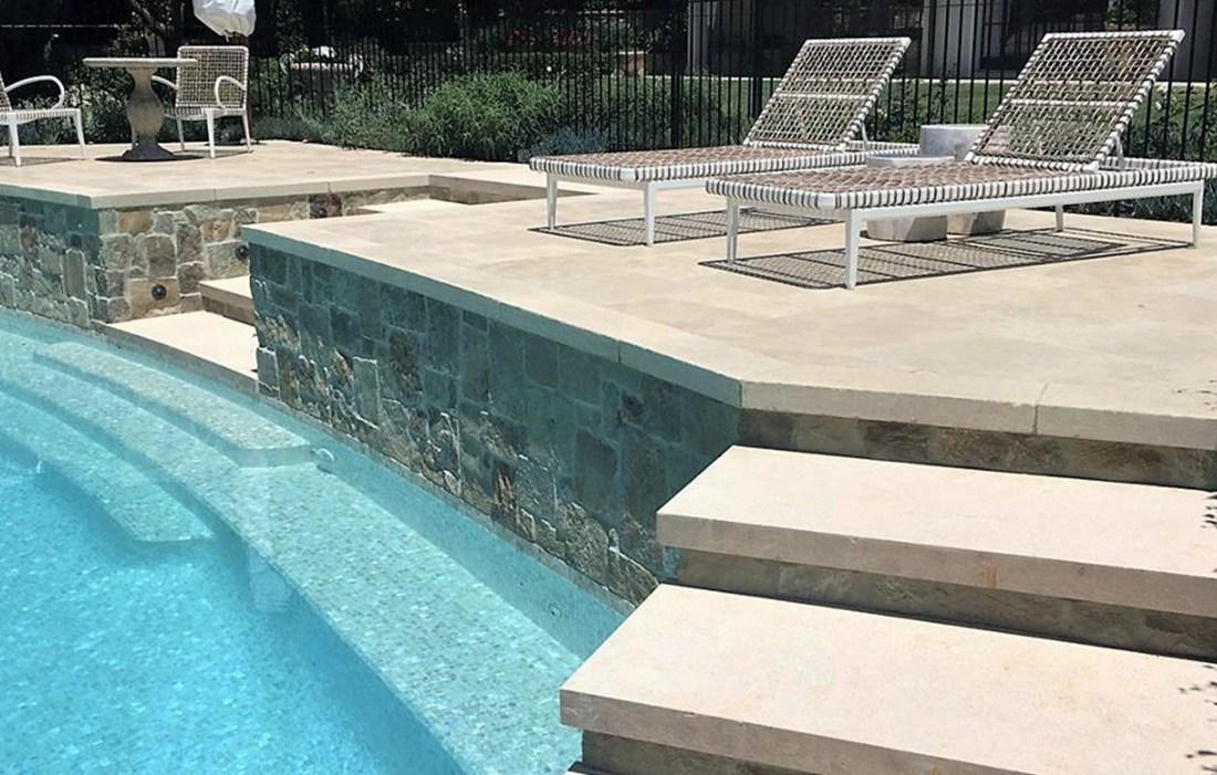 Natural 25mm Swimming Pool