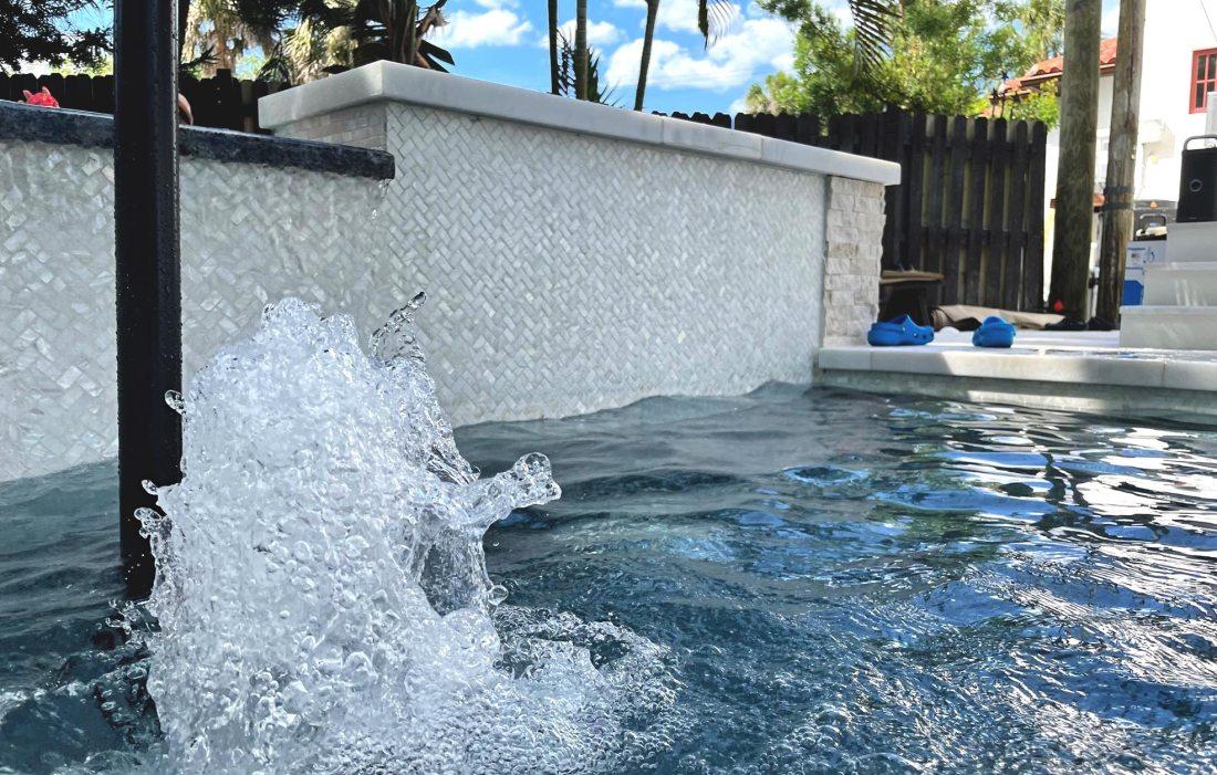 Bianco Herringbone Swimming Pool