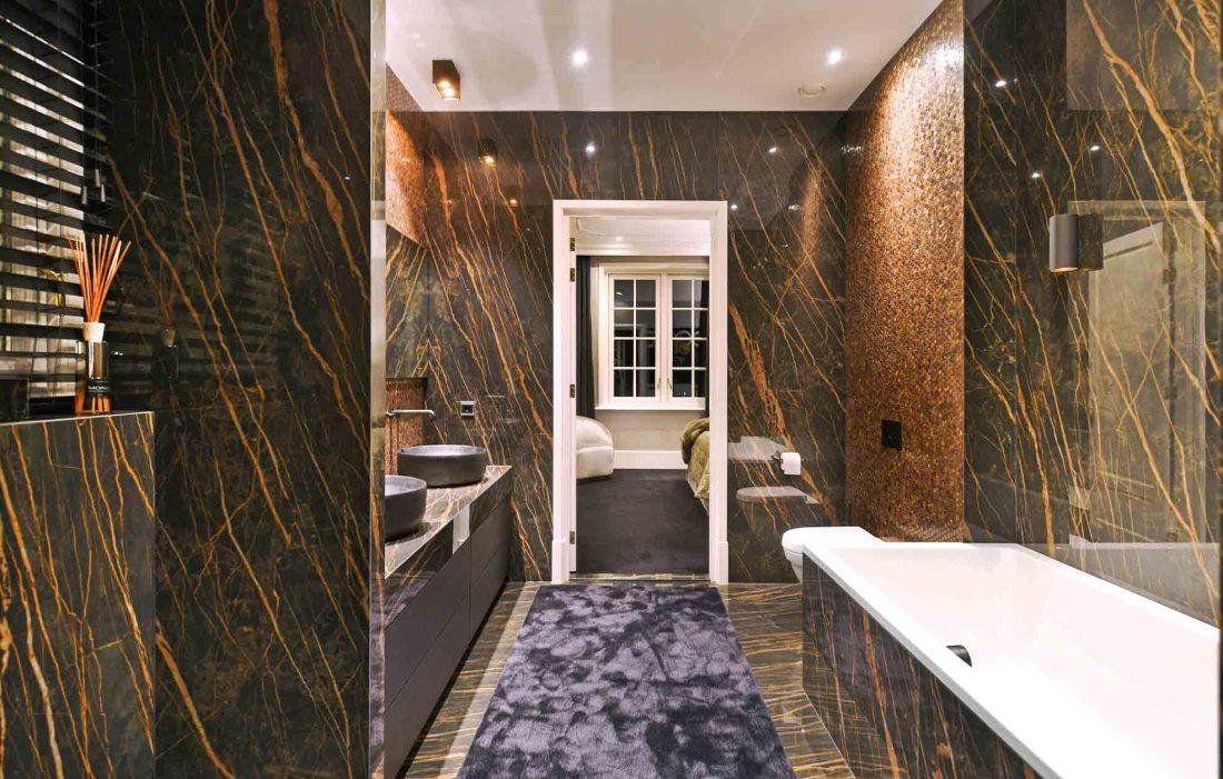 Large bathroom with Gentle Earth Hexagons