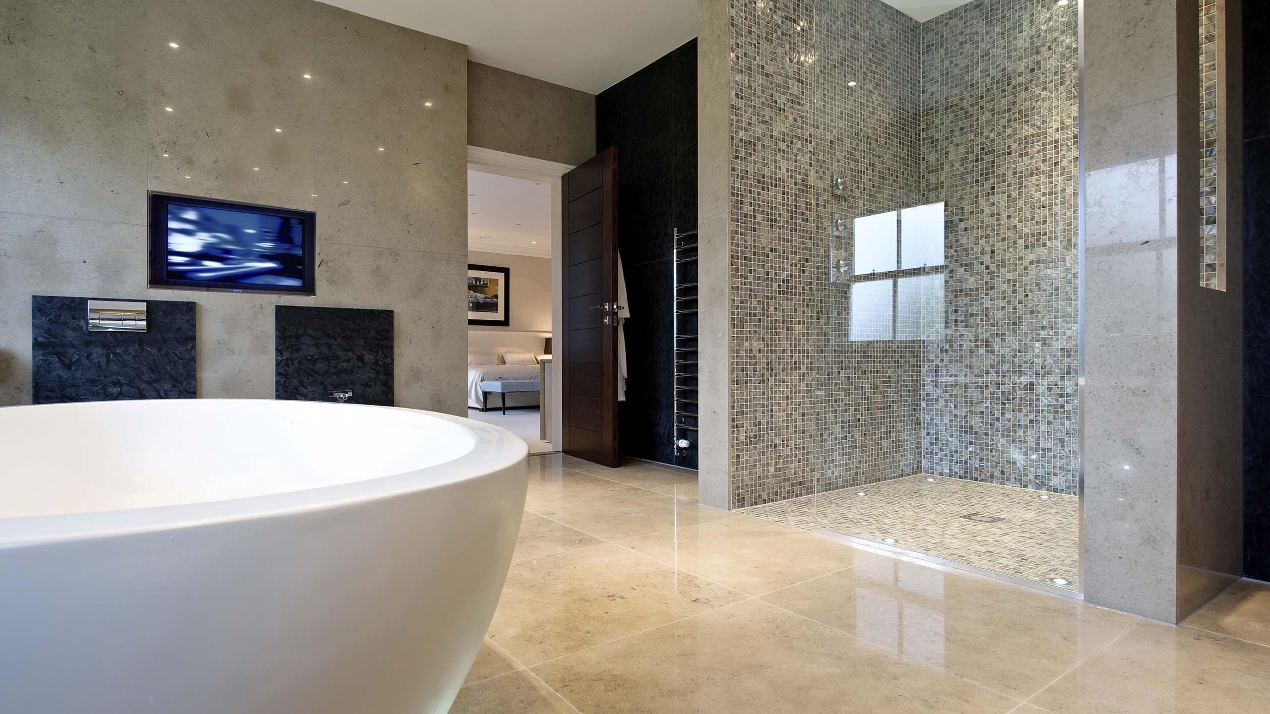 Natural colour 2022 design trend in luxury bathroom