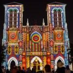 {Trey USA San Antonio walk – laser lit church}