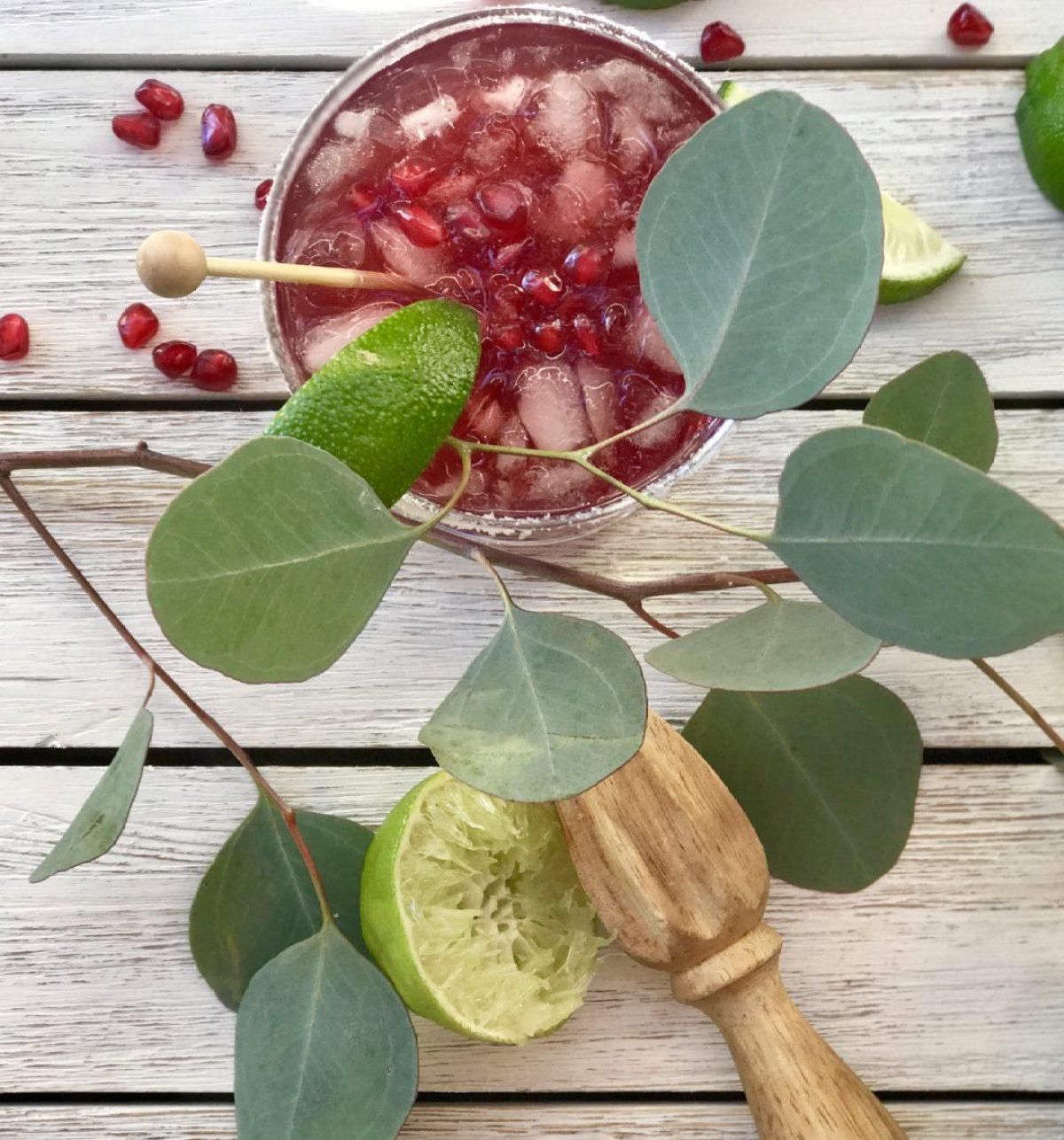 pomegranate-lime margarita
