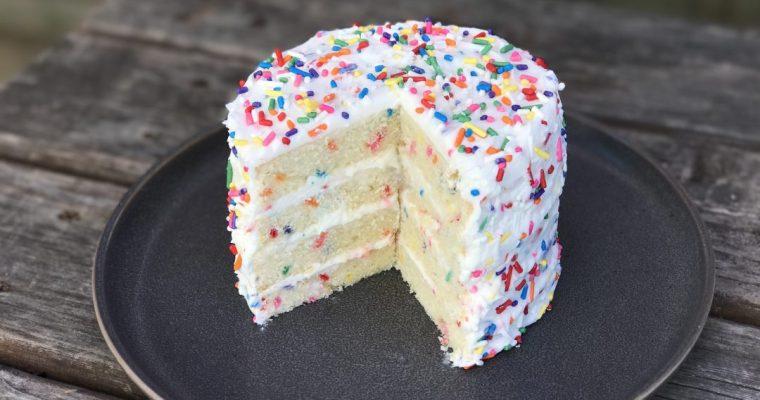 My Favorite Vanilla Confetti Birthday Cake, For My Birthday