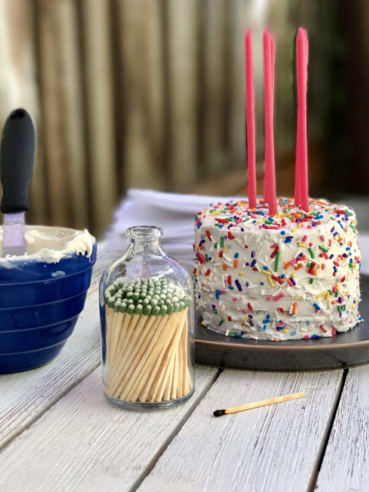 vanilla confetti birthday cake