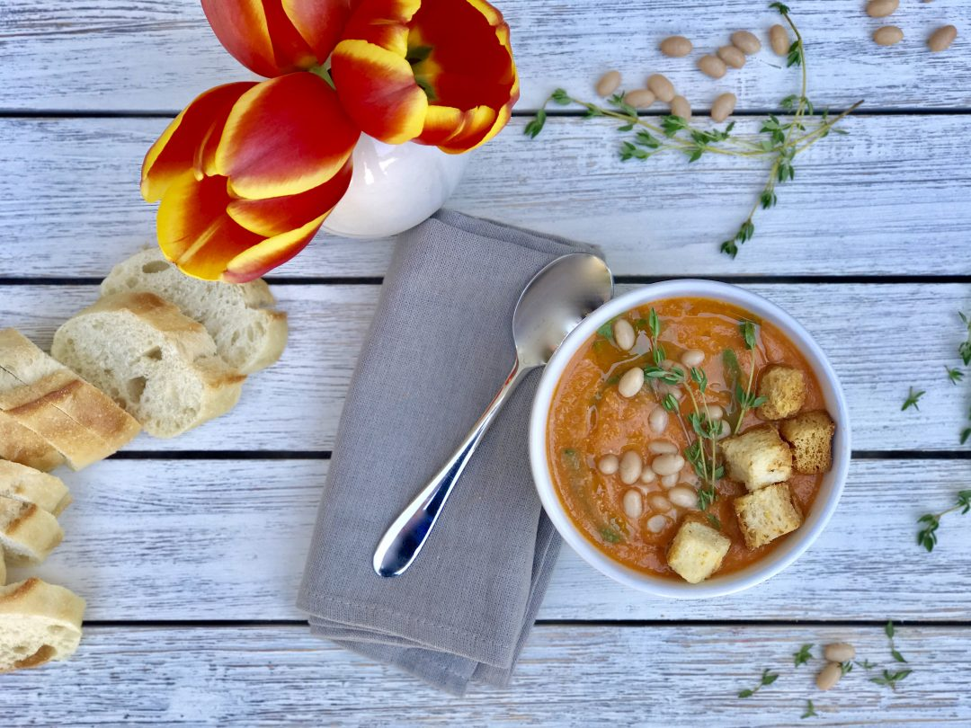 Creamy White Bean Tomato Soup Is Perfect For A Fall Night
