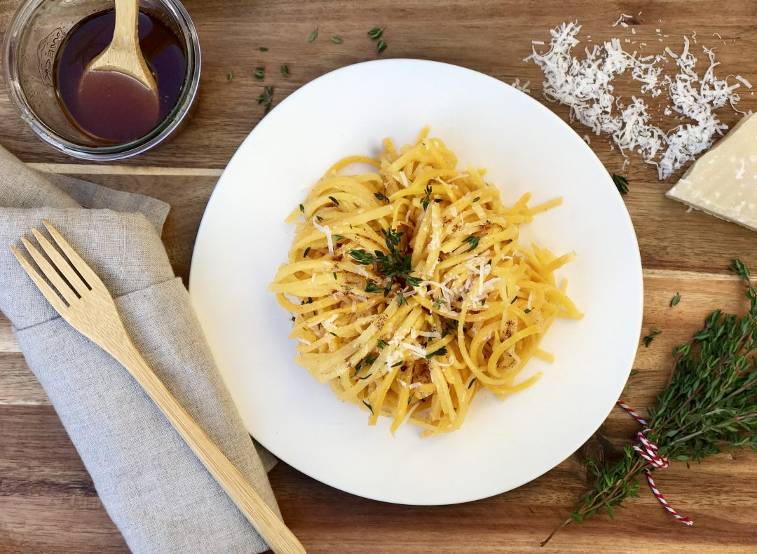 Butternut Squash Noodles With Brown Butter, Parmesan And Thyme