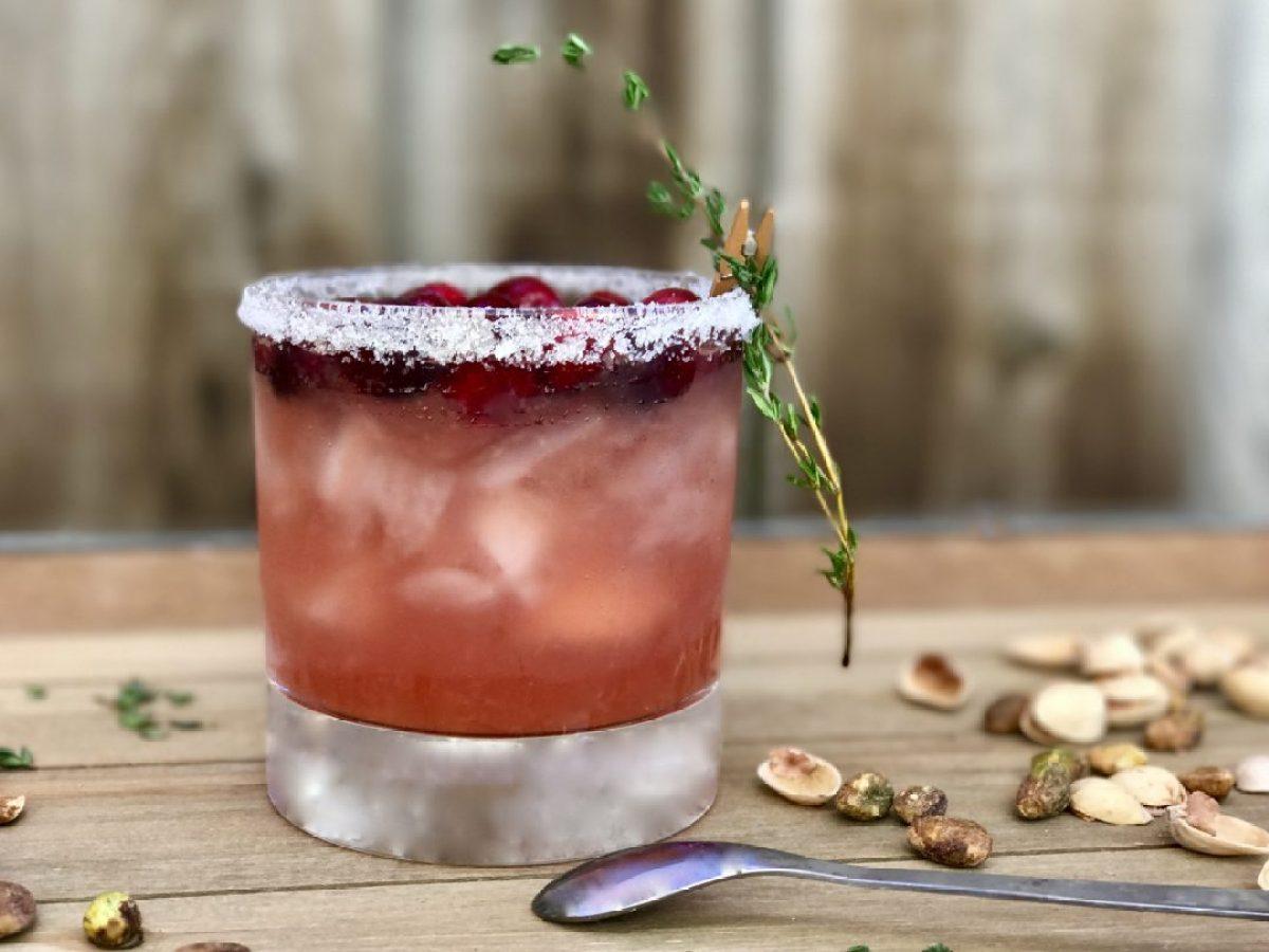 cranberry-orange whisky sour