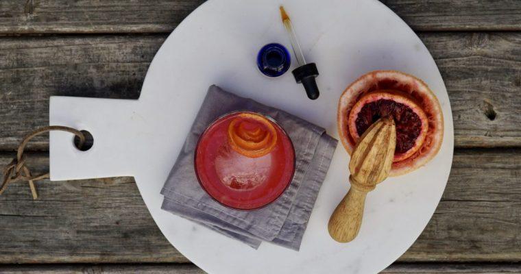 A Blood Orange Greyhound Cocktail