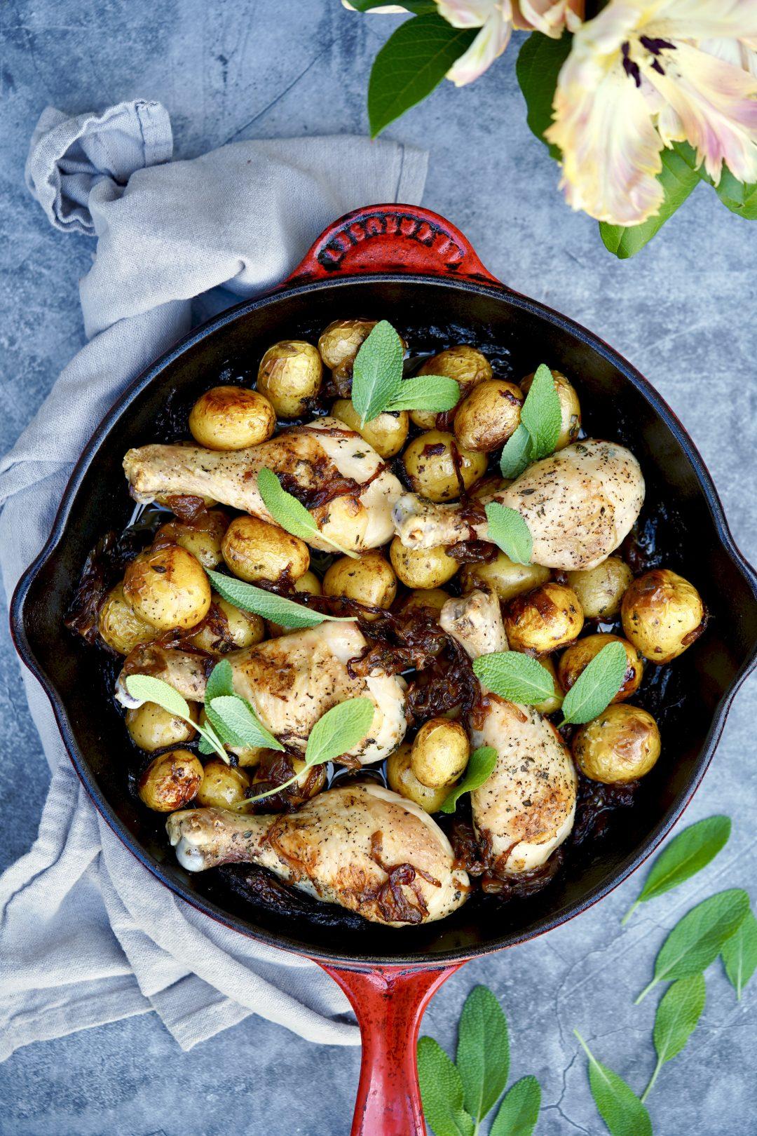 caramelized onion roast chicken