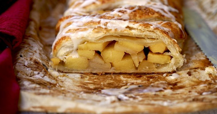 Frosted Apple Strudel